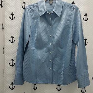 NWOT Ann Taylor Blue Shirt size 10